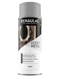 Peinture aérosol Effet métal ARGENT BRILLANT 400ml