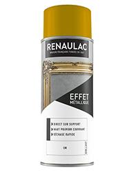Peinture aérosol Effet métallique OR BRILLANT 400ml