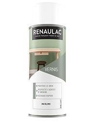 Vernis bois en aérosol INCOLORE BRILLANT 400ml