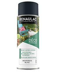 Peinture aérosol Déco Multi-supports extérieur GRIS ANTHRACITE SATIN 400ml
