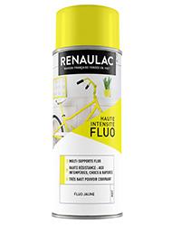Peinture aérosol Déco Multi-supports JAUNE FLUO MAT 400ml