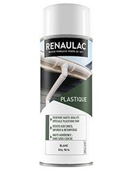 Peinture aérosol Spéciale plastique dur BLANC BRILLANT 400ml