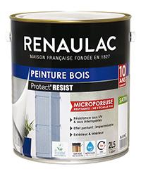 Peinture bois PROTECT' RÉSIST BLANC SATIN 2,5 L