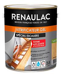 Vitrificateur gel spécial escaliers INCOLORE SATIN 2,5 L