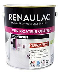 Vitrificateur opaque DÉCO'RÉSIST Parquets et Escaliers BLANC FALAISE SATIN 2,5 L