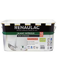 Peinture Blanc intérieur Murs et Plafonds Monocouche BLANC SATIN 2,5 L