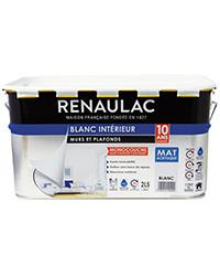 Peinture Blanc intérieur Murs et Plafonds Monocouche BLANC MAT 2,5 L