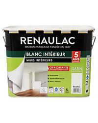 Peinture Blanc intérieur Murs et Plafonds BLANC SATIN 5 L