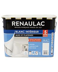 Peinture Blanc intérieur Murs et Plafonds BLANC MAT 5 L