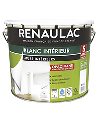Peinture Blanc intérieur Murs et Plafonds BLANC SATIN 10 L