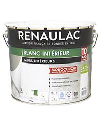 Peinture Blanc intérieur Murs et Plafonds Monocouche BLANC SATIN 10 L