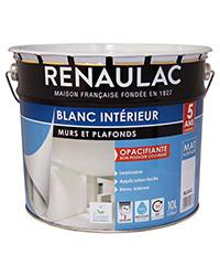 Peinture Blanc intérieur Murs et Plafonds BLANC MAT 10 L