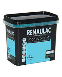 Peinture Ultra-couvrante Multisupports CYAN LUMINEUX SATIN 0,75 L