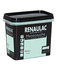 Peinture Ultra-couvrante Multisupports MENTHE 1 SATIN 0,75 L