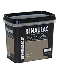 Peinture Ultra-couvrante Multisupports TAUPE 1 SATIN 0,75 L