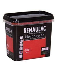 Peinture Ultra-couvrante Multisupports ROUGE TOMATE 2 SATIN 0,75 L
